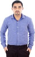 Zosh Formal Shirts (Men's) - Zosh Men's Checkered Formal Blue Shirt