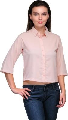 Zachi Women's Solid Casual Pink Shirt