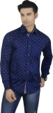 Big Brother Men's Printed Casual Blue Sh...