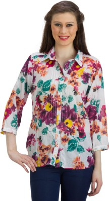 PRAGS Women's Floral Print Casual Multicolor Shirt