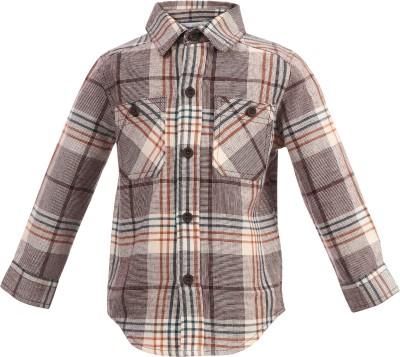 ShopperTree Baby Boy's Checkered Casual Brown Shirt
