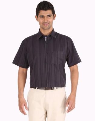 Furore Men's Striped Casual Black Shirt