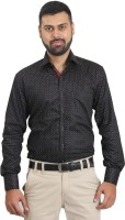 The Standard Formal Shirts (Men's) - The Standard Men's Printed Formal Black Shirt