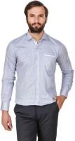 Amb Formal Shirts (Men's) - Amb Men's Checkered Formal Blue Shirt