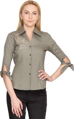 Species Women,s Solid Formal Grey Shirt