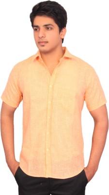 Rose Wear Men's Solid Formal Orange Shirt