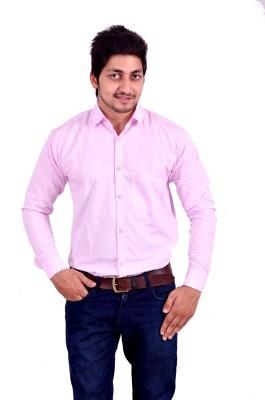 Hartmann Men's Solid Casual Pink Shirt