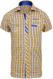 Jazzup Boys Striped Casual Yellow Shirt