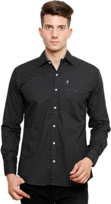 Ebry Men's Printed Casual Black Shirt