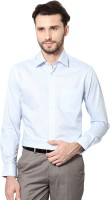 Peter England Formal Shirts (Men's) - Peter England Men's Checkered Formal Blue Shirt