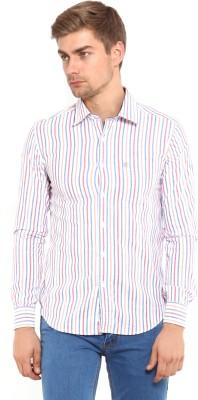 Classic Polo Men's Striped Formal Multicolor Shirt