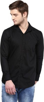 Rodamo Men,s Solid Casual Black Shirt