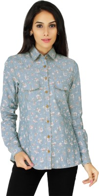 20 Dresses Women's Floral Print Casual Denim Blue, White, Pink Shirt