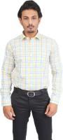 Success Formal Shirts (Men's) - Success Men's Checkered Formal Yellow Shirt