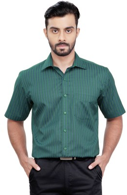 Zeal Men's Checkered Formal Green, Blue Shirt