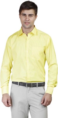 Alive Sport Men's Striped Formal Yellow Shirt