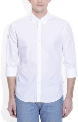 FIRSTRACE Men's Solid Casual White Shirt