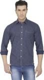 Spaky Men's Printed Casual Blue Shirt