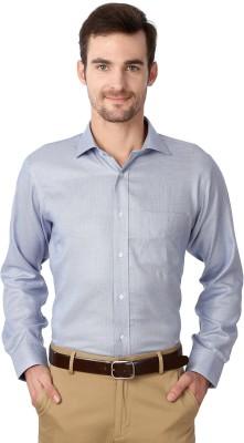 Van Heusen Men's Geometric Print Formal Blue Shirt