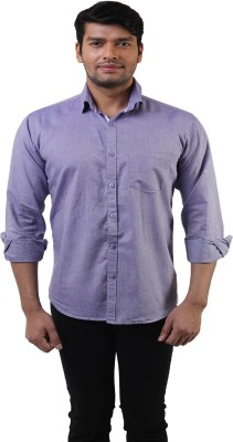 Lee Marc Men's Solid Casual Blue Shirt