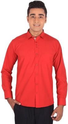 Henry Spark Men's Solid Formal Red Shirt