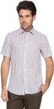 Denimlab Men's Checkered Casual White, R...