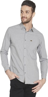 Globus Men's Checkered Casual Grey Shirt