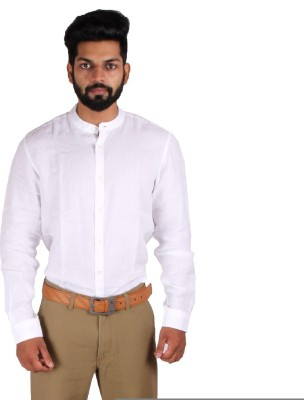 Indian Terrain Men's Solid Casual White Shirt