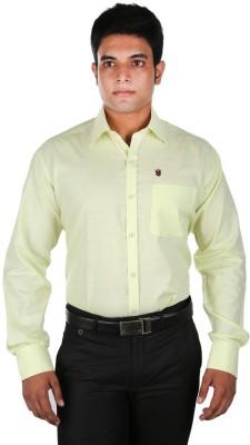 Relish Men's Solid Formal Yellow Shirt