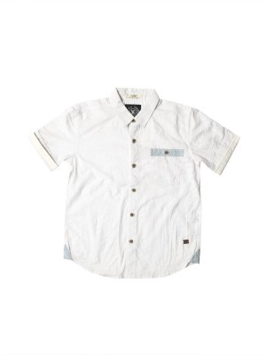 SuperYoung Boy's Polka Print Casual White Shirt