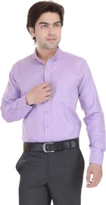 Janus Men's Solid Formal Pink Shirt