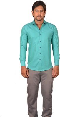 Koridor Men's Solid Formal Blue Shirt
