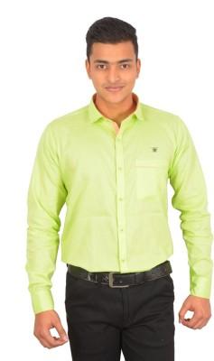 Binani Men,s Solid Casual Green Shirt