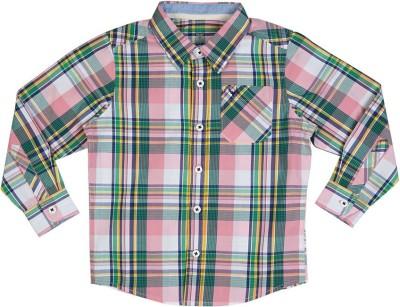 Allen Solly Men's Checkered Casual Green Shirt