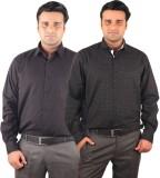 Riparv Men's Solid, Printed Formal Black...