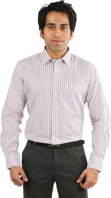 Desar Rana Men's Striped Formal Multicolor Shirt