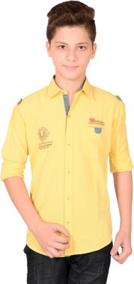Anry Boy,s Solid Casual Yellow Shirt