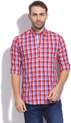 Arrow Sport Men's Checkered Casual White, Blue, Red Shirt