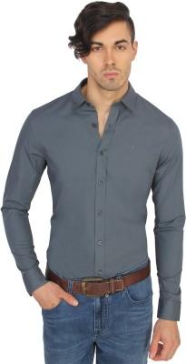 Calvin Klein Men's Solid Casual Grey Shirt