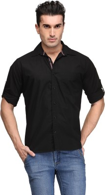 TSX Men's Solid Casual Black Shirt