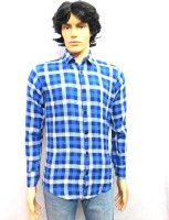 Finch Feather Formal Shirts (Men's) - FINCH FEATHER Men's Checkered Formal Multicolor Shirt