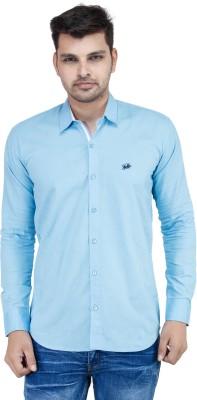 Stylox Men's Solid Casual Light Blue Shirt