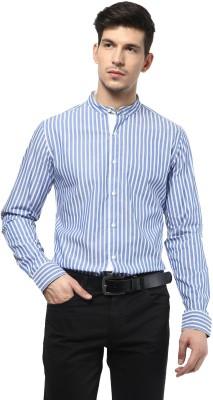 Velloche Men's Striped Casual, Festive Shirt