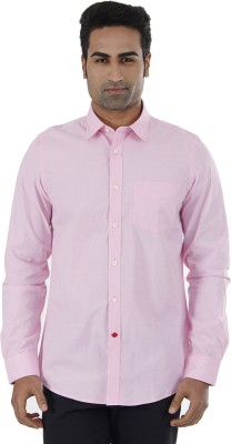 London Fog Men,s Solid Casual Pink Shirt