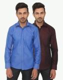 Kalpatru Men's Solid Formal Brown, Blue ...