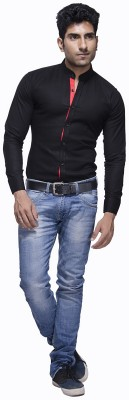 Jads Men's Solid Casual Linen Black, Red, Multicolor Shirt
