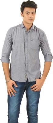PraadoFashion Men's Solid Casual Light Blue Shirt
