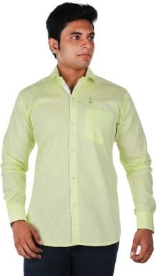 Relish Men's Solid Casual Light Green Shirt