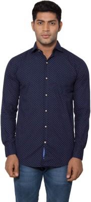 Tabser Men's Printed Casual Blue Shirt
