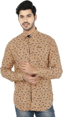Perky Look Men's Floral Print Casual Yellow, Red Shirt